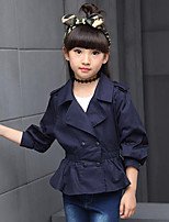 Girl's Casual/Daily Solid Suit & Blazer / Trench Coat,Cotton Spring / Fall Blue / Green / Pink / Yellow