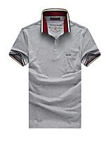 Herren Freizeit / Übergröße Polo - Einfarbig Kurz Baumwolle