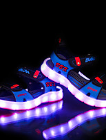 LED's Shoes Girl's Sandals Summer Sandals PU Casual Flat Heel LED Blue / Gray Others