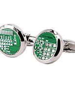 Cufflinks 1 pair,Houndstooth Silver Fashionable Cufflink Men's Jewelry
