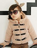 Piumino e giubbino di cotone / Completo e giacca Girl Casual Collage Poliestere Inverno / Primavera / Autunno Rosso / Beige