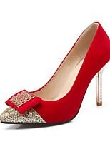 Women's Heels Summer / Pointed Toe Fleece Office & Career / Casual Stiletto Heel Sequin Black / Blue / Red Others