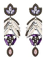 Lureme®Fine Jewelry Fashion Charms Cute Purple Crystal Flower Zinc Alloy Earrings