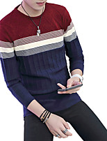 2016 autumn and winter sweater male New SWEATER MENS LONG SLEEVED red white and blue horizontal stripes.