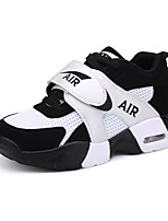 Women's Sneakers Spring / Summer / Fall / Winter Round Toe PU Athletic / Casual Flat Heel Others / Lace-up Black