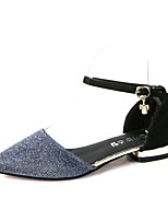 Women's Sandals Summer / Fall Pointed Toe Synthetic Dress Low Heel Buckle Black / Gray / Gold Others
