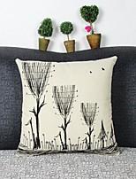 Graphic Prints Cotton/Linen Pillow Cover