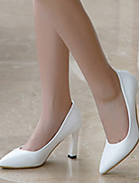 Women's Heels Fall Heels / Pointed Toe Microfibre Casual Stiletto Heel Others Black / White / Almond Others