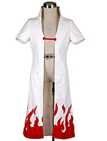 Inspiriert von Naruto Minato Namikaze Anime Cosplay Kostüme Cosplay Kostüme einfarbig Weiß Kurze Ärmel Umhang