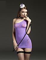 SKLV Women Nylon Jacquard Sheer Chemises & Gowns Lingerie/Ultra Sexy/Teddy Nightwear