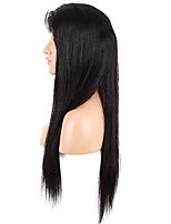 150% Density Silk Natural Straight Lace Front Wigs Human Hair 8A Unprocessed Brazilian Virgin Human Hair