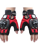 Mesh Leather Racing Gloves Half Finger Motorcycle Motorbike   (1 Pair)