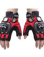 Mesh Leather Racing Gloves Half Finger Motorcycle Motorbike   (1 Pair)