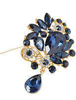 Women's Crystal  Flower Brooch for Wedding Party Decoration Scarf ,Fine Jewelry