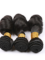 3 Bundles 7A Brazilian Loose Wave Virgin Hair Human Hair Weave Bundles Brazilian Loose Wave