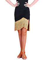 Latin Dance Tutus & Skirts Women's Training Chinlon Tassel(s) 1 Piece