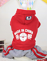 Hunde Kapuzenshirts Rot / Blau / Purpur Winter Buchstabe & Nummer warm halten, Dog Clothes / Dog Clothing-Other