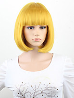 Gold Blonde Brown Wig Silky Straight Short CLASSY Bob Style Synthetic Wigs For Women Free Shipping