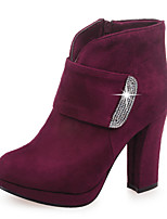 Women's Boots Fall / Winter Fashion Boots / Round Toe Party & Evening / Dress / Casual Chunky Heel Sparkling Glitter