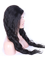 16-26 Inch Indian Virgin Human Hair Natural Black Color U Part Front Lace Wig Water Wave Lace Wig With Baby Hair