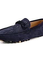 Hombre-Tacón Plano-Mocasín / Estilos-Zapatillas de deporte-Casual-PU-Negro / Gris / Azul Real