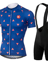 KEIYUEM® Summer Cycling Jersey Short Sleeves + BIB Shorts Ropa Ciclismo Cycling Clothing Suits #K114