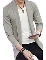 Men's sweater cardigan sweater new long sleeved autumn winter Korean tide young students slim wool coat