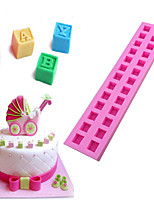The 3D Letters Type Candy Fondant Cake Molds  For The Kitchen Baking Molds 26*5.3*2.1cm