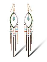 TIANSHE Women'S  Retro Tassel Earrings Alloy 1 pair