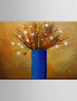 Hand-Painted Abstract Flower Oil Painting on Canvas Wall Art Contempory Color Home Deco Ready to Hang