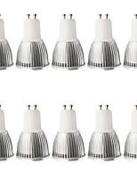 5W GU10 LED-spotlampen MR16 1 COB 480LM lm Warm wit / Koel wit Dimbaar / Decoratief AC 100-240 / AC 110-130 V 10 stuks
