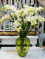 Hi-Q 1Pc Decorative Flower Orchids Flower Wedding Home Table Decoration Artificial Flowers