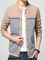 2016 new Fox gyoten men's jacket slim jacket thin collar Korean male man coat striped Menswear