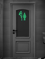 AYA™ DIY Toilets Luminous Stickers Super Bright Glow in the Dark Bathroom Sticker Wall Decor