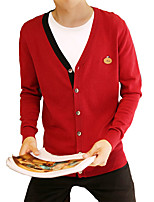Spring thin CARDIGAN SWEATER MENS V neck long sleeved cotton slim trend of Korean sweater tide