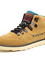 Masculino-Botas-Conforto / Coturno / Botas da Moda / Botas de Motocicleta / Trabalho & Segurança-Rasteiro-Preto / Azul / Amarelo-Camurça-