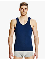 Men's Solid Casual Tank Tops,Cotton Sleeveless-Black / Blue / White / Gray