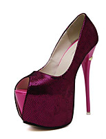 Women's Heels Summer Heels Leatherette Outdoor Stiletto Heel Others Black / Blue / Purple / Red Others