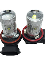 2 PCS High-end Chev-rolet Special LED Fog Lamp H8 H9 H11 30W 6 CHIP White Color