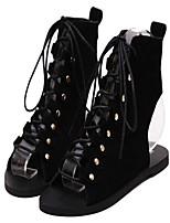 Women's Heels Summer Flats PU Casual Flat Heel Others Black / Brown