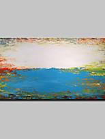 Pintada a mano Abstracto / Paisajes Abstractos Pinturas de óleo,Modern Un Panel Lienzos Pintura al óleo pintada a colgar For Decoración