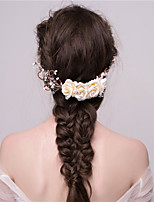 MISS DIVA Women's Tulle Headpiece Hair Combs 1 Piece White Flower 52