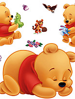 Winnie The Pooh Cartoon Bear Tigger Wall Stickers Fashion Creative Children's Bedroom Wall Decals