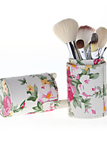12 Makeup Brushes Set Goat Hair Professional / Full Coverage / Portable Wood Face / Eye / Lip With Cosmetic Bag