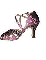 Non Customizable Women's Dance Shoes Leatherette /Sparkling Glitter Latin / Swing Shoes Sandals / Heels