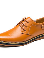 Men's Flats Spring / Summer / Fall / Winter Pointed Toe Leather Office & Career / Casual Flat Heel Others