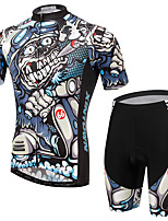 Men's Cycling Clothing Sets New Fashion Combat Ranger Style Pattern Bicycle Sports Comfortable Short Cycling Jersey
