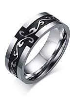 Men's Popular Personality Retro Titanium Steel Dragon Pattern Ring