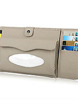 Car Multifunctional Visor Set of LeatherCar CD Clip to Receive CD Bag Paper Towel Box Imported Cowhide