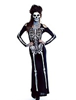 Costumes Ghost / Zombie Halloween / Carnival / Oktoberfest White / Black / Gray Vintage Terylene Zentai
